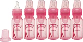 Dr. Brown's Pink 4 Ounce Bottles - 6 Pack