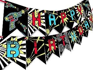Laser Tag Happy Birthday Banner Pennant