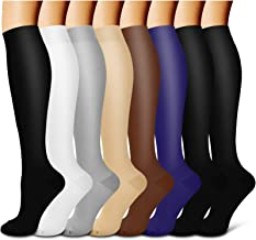 Compression Socks For Women& Men circulation(8 Pairs),Stockings-Best for Running,Sports,Hiking,Flight travel,Pregnancy