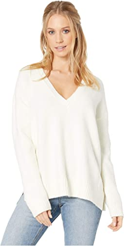 Fair Warming Deep V Sweater with Rib Stitch