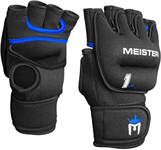 Meister Elite 1lb Neoprene Weighted Gloves for Cardio & Heavy Hands (Pair) - 1lb x 2