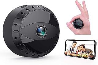 Mini Cámara Espía WiFi Tesecu Cámara Oculta de vigilancia inalámbrica HD 1080P Videocámara Portátil con visión Nocturna Cámara de Seguridad para iPhone/Android Phone/iPad/PC