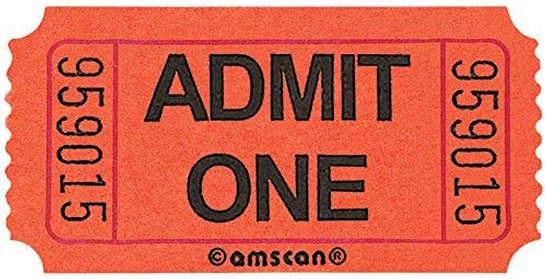 Amscan Fun-Filled Admit Max 59% OFF One Orange Ticket 2
