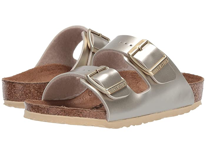 Birkenstock Kids  Arizona (Toddler/Little Kid/Big Kid) (Electric Metallic Gold) Girls Shoes