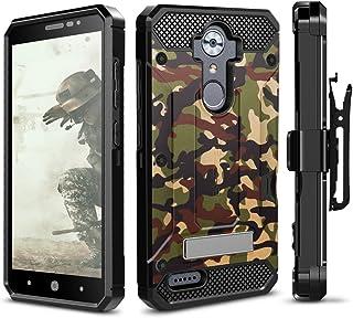 Best ZTE MAX XL Case, Evocel [Explorer Series Pro] Dual Layer Credit Card Case with Tempered Glass & Magnetic Kickstand for ZTE Blade Max 3/ ZTE Blue Max/ZTE N9560/ ZTE Z986/ ZTE N986, Camouflage Review