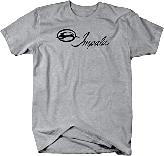 Muscle Car Impala Vintage Classic Car Emblem Graphic T Shirt for Men
