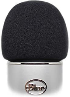 Professional Foam Windscreen for Blue Yeti - Covers Other Large Microphones, such as MXL, Audio Technica and Many More - Quality Sponge Material Makes This The Perfect Pop Filter for your Mic (Black)