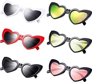 نظارات شمسية على شكل قلب عتيقة نظارات شمسية للنساء نظارات ريترو للتسوق والسفر إكسسوارات الحفلات