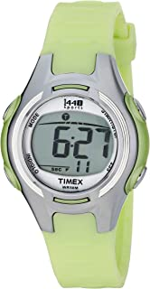 Women's T5K081 1440 Digital Watch with Light-Green Resin Strap