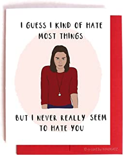 parks and rec valentines cards