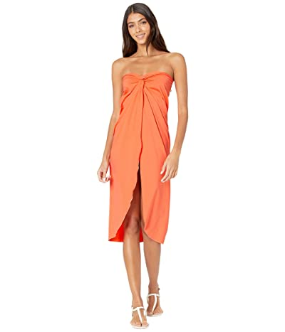 SOLUNA SWIM Clear Skies Wrap Dress Cover-Up (Creamsicle) Women