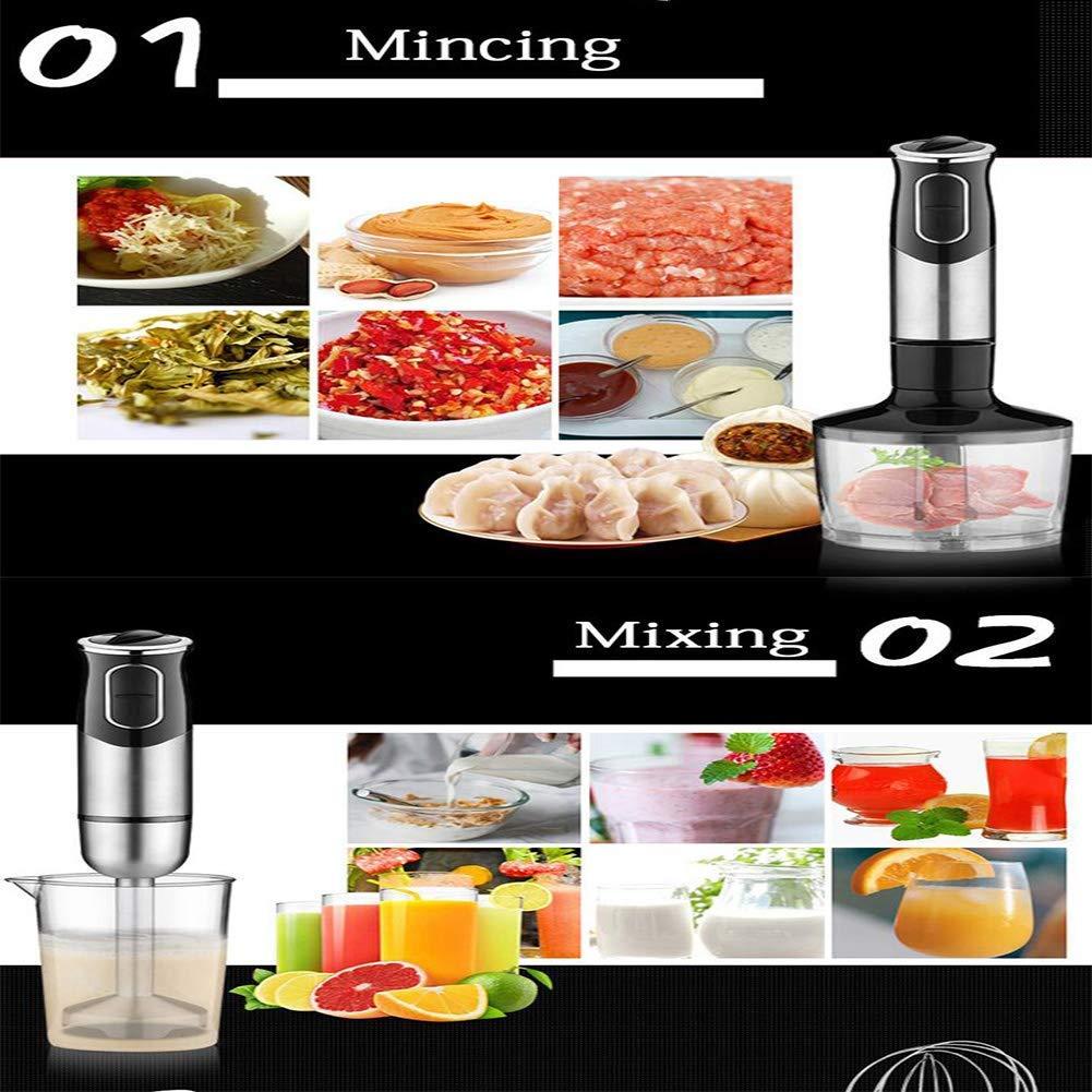 Zixin Inmersión Mezclador de la Mano, Incluye BPA Food Chopper/batidor de Huevo/Vaso, Mango ergonómico, Desmontable, 600 W, 2 plazos de envío: Amazon.es