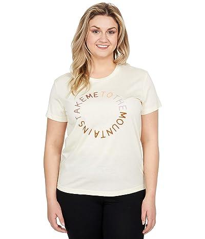 tentree To The Mountains T-Shirt (Elm White Heather) Women