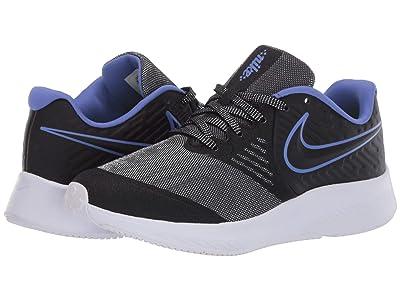 Nike Kids Star Runner 2 Glitter (Big Kid) (Black/Black/Sapphire/Lemon Venom) Kids Shoes