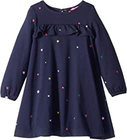 Printed Jersey Dress with Ruffle Detail (Toddler/Little Kids)