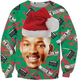 SUNY Man Will Smith Ugly Christmas Sweater Hip Hop Crewneck Sweatshirt