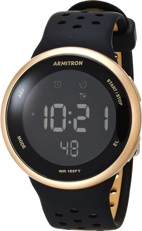 Armitron Sport Reloj Unisex de la Correa del silicón del cronógrafo Digital, 40/8423