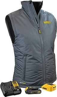 DeWALT DCHVL10C1 20-Volt/12-Volt Women's Heated Quilted Gray Vest Jacket, X-Large