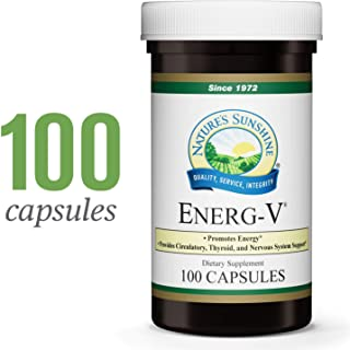 Nature's Sunshine Energ-V, 100 Capsules   Promotes Energy Production, Supports Circulatory Health, and Nourishes Both Nervous and Glandular Systems