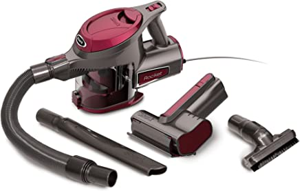 Shark Rocket Corded Ultra-Light Hand Vacuum for Carpet with TruePet Mini Motorized Brush and 15-foot Power Cord (HV292), Maroon