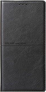 Samsung Galaxy Note 10 Plus Rich Boss Leather Flip Wallet Case - Black