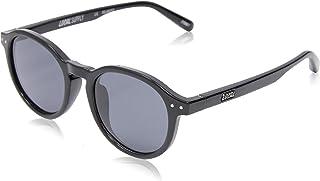 Local Supply Men's STATION Polarized Sunglasses - Dark Grey Tint Lens, Gloss Black Frames
