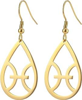 EUEAVAN American New Jersey Map Earrings Garden State Drop Dangle Earrings for Memory