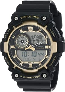 Casio Mens Quartz Watch, Analog-Digital Display and Silicone Strap - PRG-600-1DR