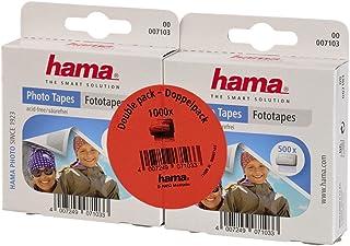 Hama - Adhesivos para fotos (1000 unidades autoadhesivos por las dos caras caja dispensadora sin ácidos ni disolventes aptos para álbumes)