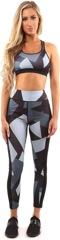 Savoy Active Bondi Sports Bra - Black/Grey