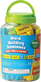 Educational Insights Phonics Dominoes - Word Building, Two-sided Domino Word Building Game for Kids Ages 6 and up, (200+ p...
