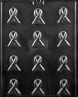 Grandmama's Goodies M210 Bite Size Awareness Ribbon Chocolate Candy Soap Mold with Exclusive Molding Instructions