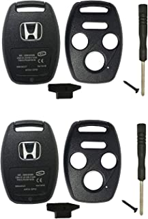 2 Pcs Replacement Key Fob Shell Case Fit for Honda Accord Ridgeline Civic CR-V 4 Buttons Keyless Entry Remote Car Key Fob Cover Housing Only Casing