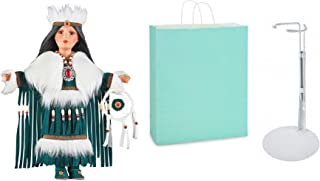 Hemanti Native American Indian Doll with Stand and Gift Bag ( 3 Item Bundle )