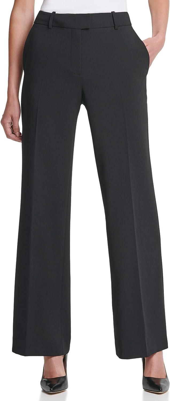 DKNY Women's Misses Fixed Waist Wide Leg Pant