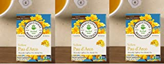 Traditional Medicinals Yellow Pau D'Arco, Herbal Tea, 16 CT (Pack - 3)