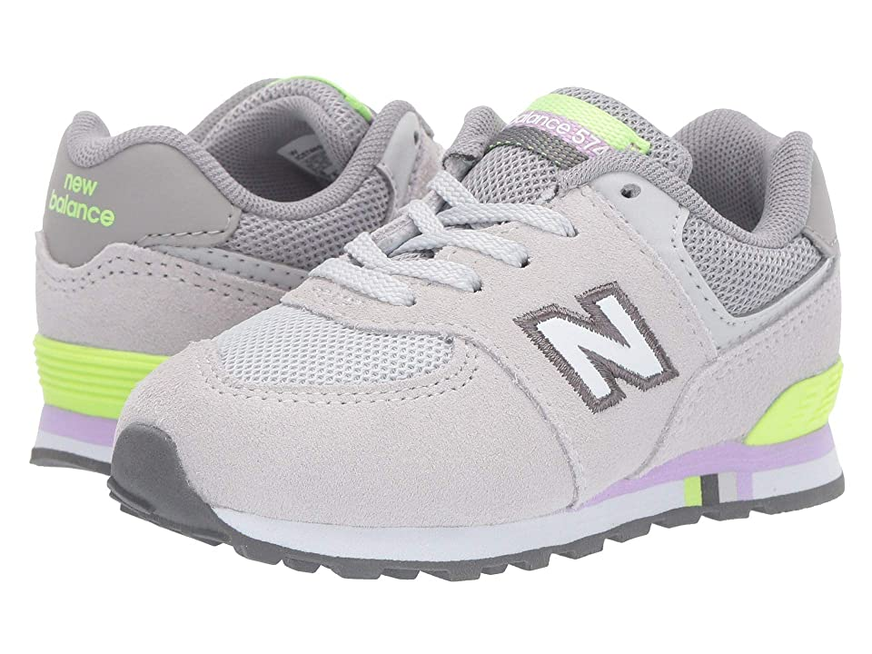 New Balance Kids 574 Summer Shore (Infant/Toddler) (Summer Fog/Bleached Lime Glo 2) Girls Shoes