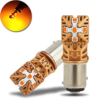 LivTee 1157 2057 2357 7528 BAY15D LED LED Bulbs Super Bright Replacement for Turn Signal Blinker Lights, Amber Yellow