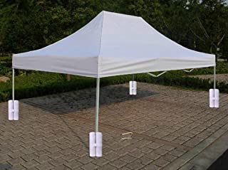 Wannafly 4pcs/Pack Industrial Heavy Duty Sandbag for Outdoor Pop up Canopy Leg Sun Shelter Tents Feet Versatile Anchor Bags Awning Marquee Stand Anchor Sandbag Holder
