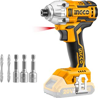 Sponsored Ad – INGCO 20V Brushless Lithium-Ion Impact Driver 1/4 Inch, 170NM (Body Only) CIRLI20020