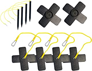 Park & Sun Sports Outdoor Volleyball Beach/Sand Adaptor Kit with Ground Stakes: Butterfly Anchor Set