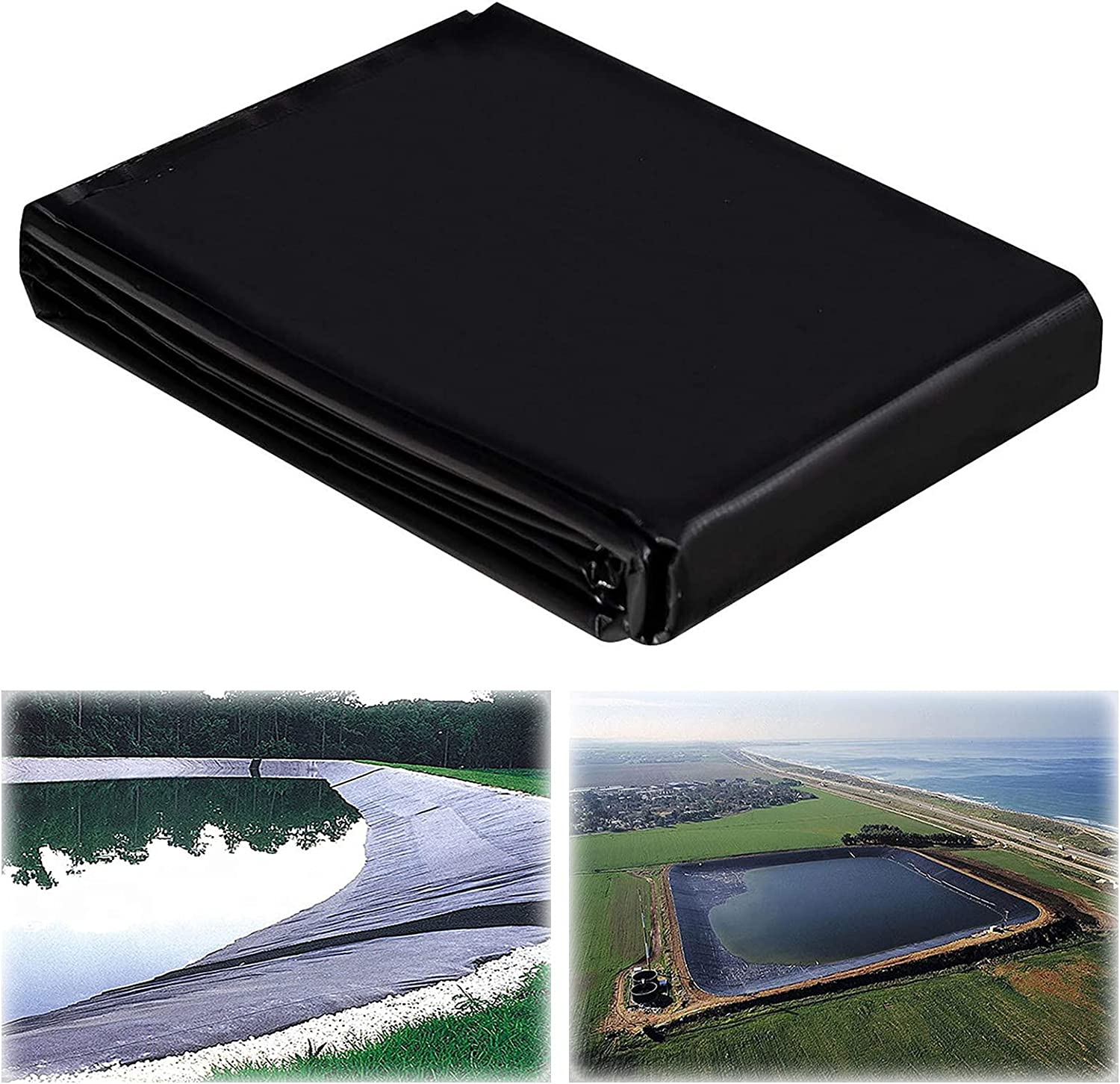 ZBYL Black Pond Sale Liner 3x4ft 8 Durable HDPE Rubber Skin Miami Mall mil