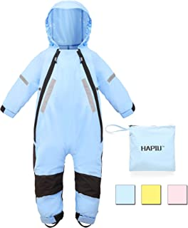 c6056cf6d4b0f HAPIU Kids Toddler Rain Suit Muddy Buddy Waterproof Coverall