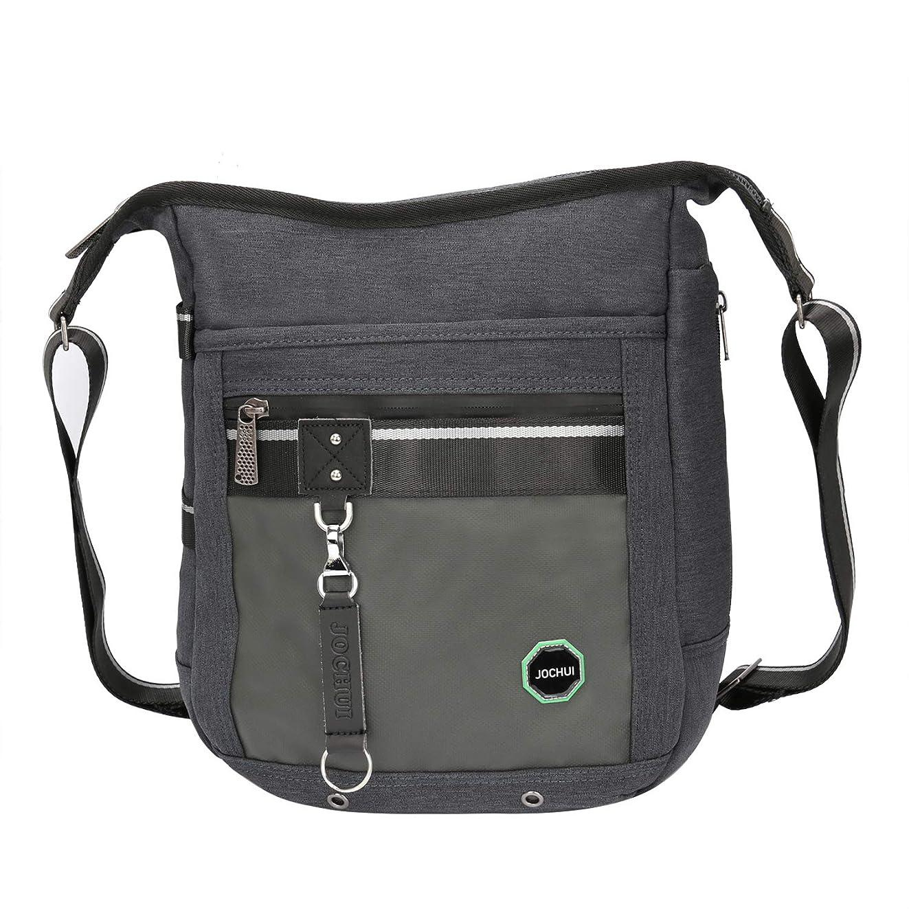 Vertical Crossbody Bag, JOCHUI Messenger Bag for Men Women Shoulder Bag Small Laptop Tablet Bag Black
