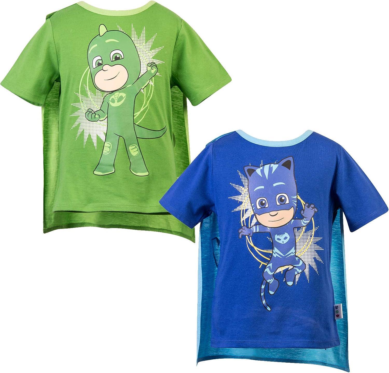 PJ Masks Short Sleeve T-Shirt - 2 Pack of PJMASKS Catboy & Gekko Short Sleeve Headless T-Shirts