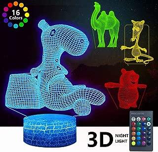3D Animal Night Light, DDD Lamp 4 Patterns Led Illusion...