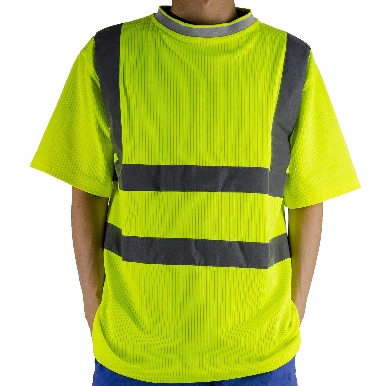 Camisas de seguridad de alta visibilidad, camisa de manga corta reflectante para hombre, camiseta de alta visibilidad para trabajo y correr: Amazon.es: Bricolaje y herramientas
