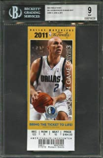 2011 nba final ticket MIAMI HEAT vs DALLAS MAVERICKS game 5 BGS 9 - Other Game Used NBA Items
