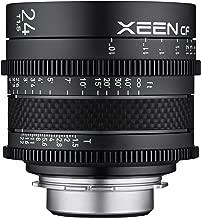 ROKINON XEEN Cf 24mm T1.5 Pro Cinema Lens with Carbon Fiber Construction & Luminous Markings for Canon EF Mount