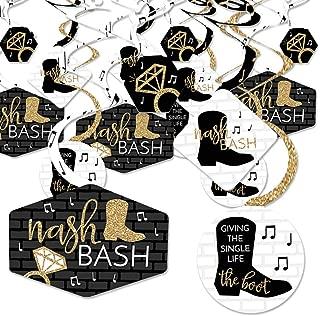 Big Dot of Happiness Nash Bash - Nashville Bachelorette Party Hanging Decor - Party Decoration Swirls - Set of 40